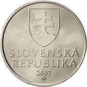 Slovaquie, 5 Koruna, 2007, FDC, Nickel plated steel, KM:14