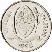 Botswana, 10 Thebe, 1998, British Royal Mint, SPL+, Nickel plated steel, KM:27
