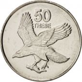 Botswana, 50 Thebe, 2001, British Royal Mint, SPL+, Nickel plated steel, KM:29