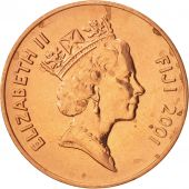 Fiji, Elizabeth II, 2 Cents, 2001, SPL, Copper Plated Zinc, KM:50a