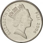 Fiji, Elizabeth II, 5 Cents, 2006, FDC, Nickel plated steel, KM:51a