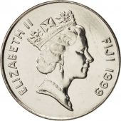Fiji, Elizabeth II, 10 Cents, 1999, SPL+, Nickel plated steel, KM:52a