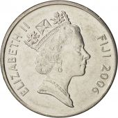 Fiji, Elizabeth II, 20 Cents, 2006, SPL+, Nickel plated steel, KM:53a