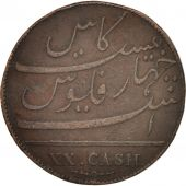 INDIA-BRITISH, MADRAS PRESIDENCY, 20 Cash, 1803, Soho Mint, Birmingham, TB