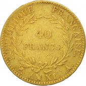 France, 40 Francs, 1803, Paris, TB+, Or, KM:652, Gadoury:1080