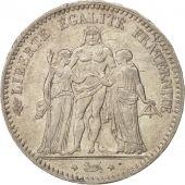 France, Hercule, 5 Francs, 1876, Paris, AU(55-58), Silver, KM:820.1
