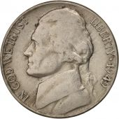 United States, Jefferson Nickel, 5 Cents, 1949, U.S. Mint, Philadelphia