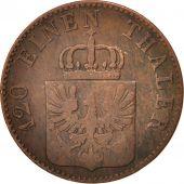 Etats allemands, PRUSSIA, Friedrich Wilhelm IV, 3 Pfennig, 1852, Berlin, TB+