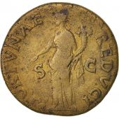 Vespasian, As, 77-78, Lyons, VF(30-35), Copper, RIC:1217