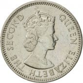 East Caribbean States, Elizabeth II, 25 Cents, 1965, AU(55-58), Copper-nickel