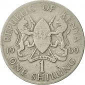 Kenya, Shilling, 1969, VF(20-25), Copper-nickel, KM:14