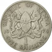 Kenya, Shilling, 1974, EF(40-45), Copper-nickel, KM:14