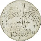 GERMANY - FEDERAL REPUBLIC, 10 Mark, 1972, Hambourg, MS(60-62), Silver, KM:133