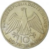 GERMANY - FEDERAL REPUBLIC, 10 Mark, 1972, Hambourg, MS(60-62), Silver, KM:131