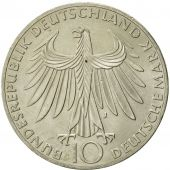 GERMANY - FEDERAL REPUBLIC, 10 Mark, 1972, Hambourg, MS(60-62), Silver, KM:132
