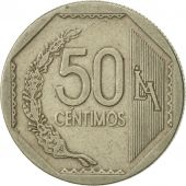 Pérou, 50 Centimos, 2003, Lima, TTB, Copper-Nickel-Zinc, KM:307.4