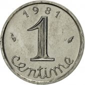 France, Épi, Centime, 1981, Paris, MS(63), Stainless Steel, KM:928, Gadoury:91