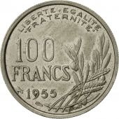 France, Cochet, 100 Francs, 1955, Paris, SUP, Copper-nickel, KM:919.1