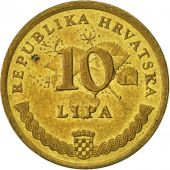 Croatie, 10 Lipa, 1999, SUP, Brass plated steel, KM:6