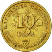 Croatie, 10 Lipa, 1993, SUP, Brass plated steel, KM:6