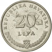 Croatie, 20 Lipa, 1995, SUP, Nickel plated steel, KM:18