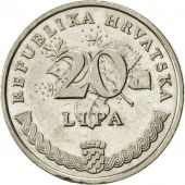 Croatie, 20 Lipa, 1999, SUP, Nickel plated steel, KM:7
