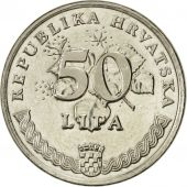 Monnaie, Croatie, 50 Lipa, 1993, SUP, Nickel plated steel, KM:8