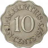 Mauritius, Elizabeth II, 10 Cents, 1975, EF(40-45), Copper-nickel, KM:33