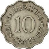 Mauritius, Elizabeth II, 10 Cents, 1970, EF(40-45), Copper-nickel, KM:33