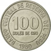 Pérou, 100 Soles, 1980, SUP, Copper-nickel, KM:283