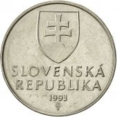 Slovaquie, 2 Koruna, 1993, SUP, Nickel plated steel, KM:13