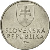 Slovaquie, 2 Koruna, 1994, SUP, Nickel plated steel, KM:13