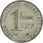 Coin, West African States, Franc, 1977, Paris, AU(55-58), Steel, KM:8
