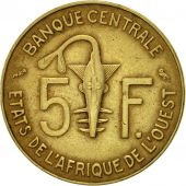 West African States, 5 Francs, 1974, Paris, TTB, Aluminum-Nickel-Bronze, KM:2a