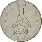 Zimbabwe, 20 Cents, 2001, Harare, TTB+, Nickel plated steel, KM:4a
