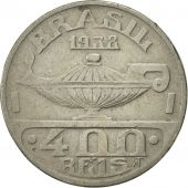 Brésil, 400 Reis, 1938, TTB+, Copper-nickel, KM:539