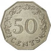 Malte, 50 Cents, 1972, British Royal Mint, SUP, Copper-nickel, KM:12