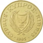 Chypre, 20 Cents, 1985, SUP, Nickel-brass, KM:57.2