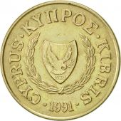 Chypre, 20 Cents, 1991, SUP, Nickel-brass, KM:62.2