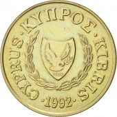 Chypre, 20 Cents, 1992, SUP, Nickel-brass, KM:62.2