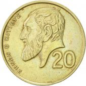 Chypre, 20 Cents, 1989, SUP, Nickel-brass, KM:62.1