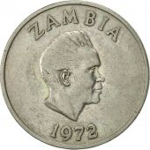 Zambia, 20 Ngwee, 1972, British Royal Mint, EF(40-45), Copper-nickel, KM:13