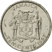 Jamaica, Elizabeth II, 10 Cents, 1993, Franklin Mint, SUP, Nickel plated steel