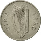 IRELAND REPUBLIC, 5 Pence, 1980, TTB, Copper-nickel, KM:22
