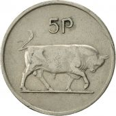 IRELAND REPUBLIC, 5 Pence, 1975, SUP, Copper-nickel, KM:22