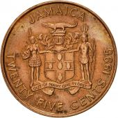 Jamaica, Elizabeth II, 25 Cents, 1995, British Royal Mint, SUP, Copper Plated