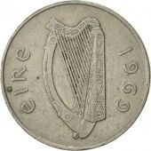 IRELAND REPUBLIC, 10 Pence, 1969, SUP, Copper-nickel, KM:23