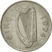 IRELAND REPUBLIC, 10 Pence, 1974, AU(55-58), Copper-nickel, KM:23
