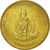 Vanuatu, 2 Vatu, 1990, British Royal Mint, TTB+, Nickel-brass, KM:4