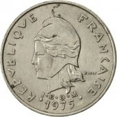 French Polynesia, 20 Francs, 1975, Paris, SUP, Nickel, KM:9
